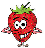 Strawberry cartoon character Royalty Free Stock Photo