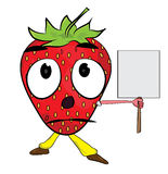 Strawberry cartoon character Stock Photos