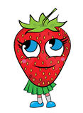 Strawberry cartoon character Royalty Free Stock Image