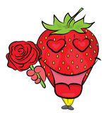 Strawberry cartoon character Stock Photography