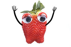 Strawberry cartoon Stock Photography