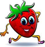 Strawberry cartoon Stock Images