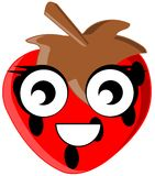 Cute Strawberry cartoon isolated stock images