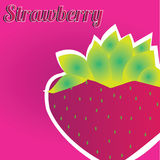 Strawberry. Cartoon strawberry on special pink background Royalty Free Stock Photos