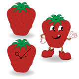 Strawberry cartoon vector Stock Photo