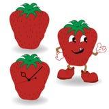 Strawberry cartoon vector Stock Photo