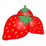 Strawberry cartoon Royalty Free Stock Image