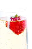 Strawberry with champagne. Stock Photography