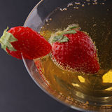 Strawberry and champagne Royalty Free Stock Photo