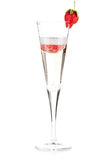 Strawberry Champagne - christmas cocktail Royalty Free Stock Images