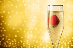 Strawberry Champagne Royalty Free Stock Photos