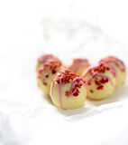 Strawberry and Champagne Truffles Royalty Free Stock Image