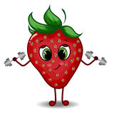Strawberry Character Athlete Royalty Free Stock Photo