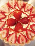 Strawberry charlotte cake stock photo