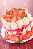 Strawberry charlotte cake Stock Photography