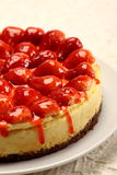 Strawberry cheese cake. Cheese cake with strawberry toping Stock Images
