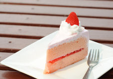Strawberry cheese cake Royalty Free Stock Images