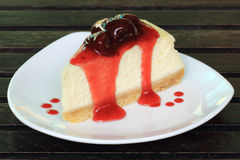 Strawberry cheese cake Stock Photos