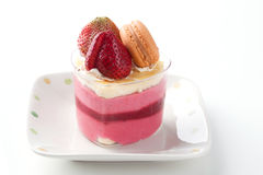 Strawberry cheese cake. Isolated strawberry cheese cake. It is good for special occasions Royalty Free Stock Photos