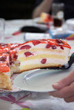 Strawberry cheese cake Stock Image
