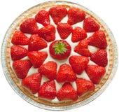 Strawberry Cheesecake. Homemade strawberry cheese cake isolated on white stock photography