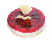 Strawberry cheesecake. Isolated on withe strawberry cheesecake Royalty Free Stock Image