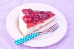 Strawberry cheesecake Royalty Free Stock Photos