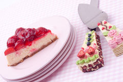 Strawberry cheesecake Royalty Free Stock Photos