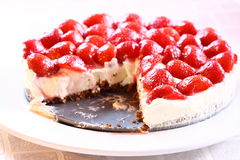 Strawberry cheesecake C Royalty Free Stock Photos