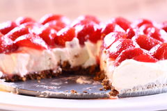 Strawberry cheesecake D Stock Images