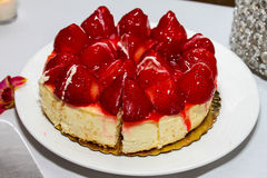 Strawberry Cheesecake Stock Photo