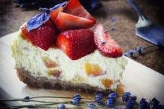 Strawberry cheesecake Stock Photography
