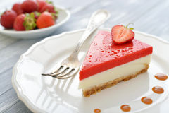 Strawberry cheesecake Royalty Free Stock Images