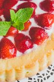 Strawberry cheesecake and fresh berries Stock Image