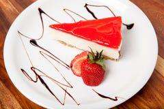 Strawberry cheesecake and fresh berries Stock Photo