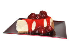 Strawberry Cheesecake Isolated Royalty Free Stock Image