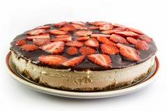 Strawberry cheesecake isolated Royalty Free Stock Image