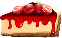 Strawberry cheesecake with jam Royalty Free Stock Image