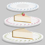 Strawberry Cheesecake Plate Royalty Free Stock Photo