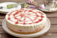 Strawberry cheesecake Stock Photography
