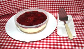Strawberry Cheesecake and Server Royalty Free Stock Photo