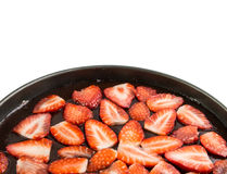 Strawberry cheesecake in springform isolated Stock Photography