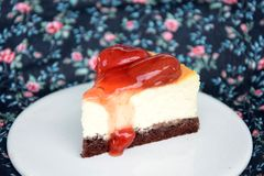 Strawberry Cheesecake Royalty Free Stock Photography