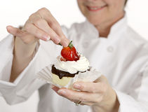 Strawberry Cheesecake Tart Stock Images