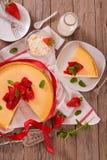 Strawberry cheesecake. stock photography