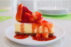 Strawberry Cheesecake Stock Images