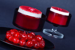 Strawberry Cheesecakes  Royalty Free Stock Image