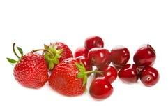 Strawberry and cherry Stock Image