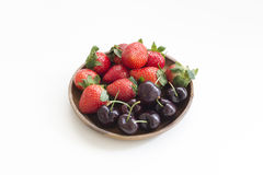 Strawberry and cherry Stock Photography