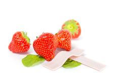 Strawberry chewing gum Stock Photos